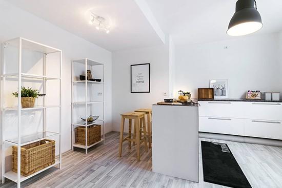 Raum 2 mit CUBIQZ basic L-förmige Pappküche