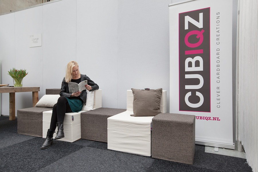 CUBIQZ cardboard furniture for EXPO-TAKEYOURSEAT