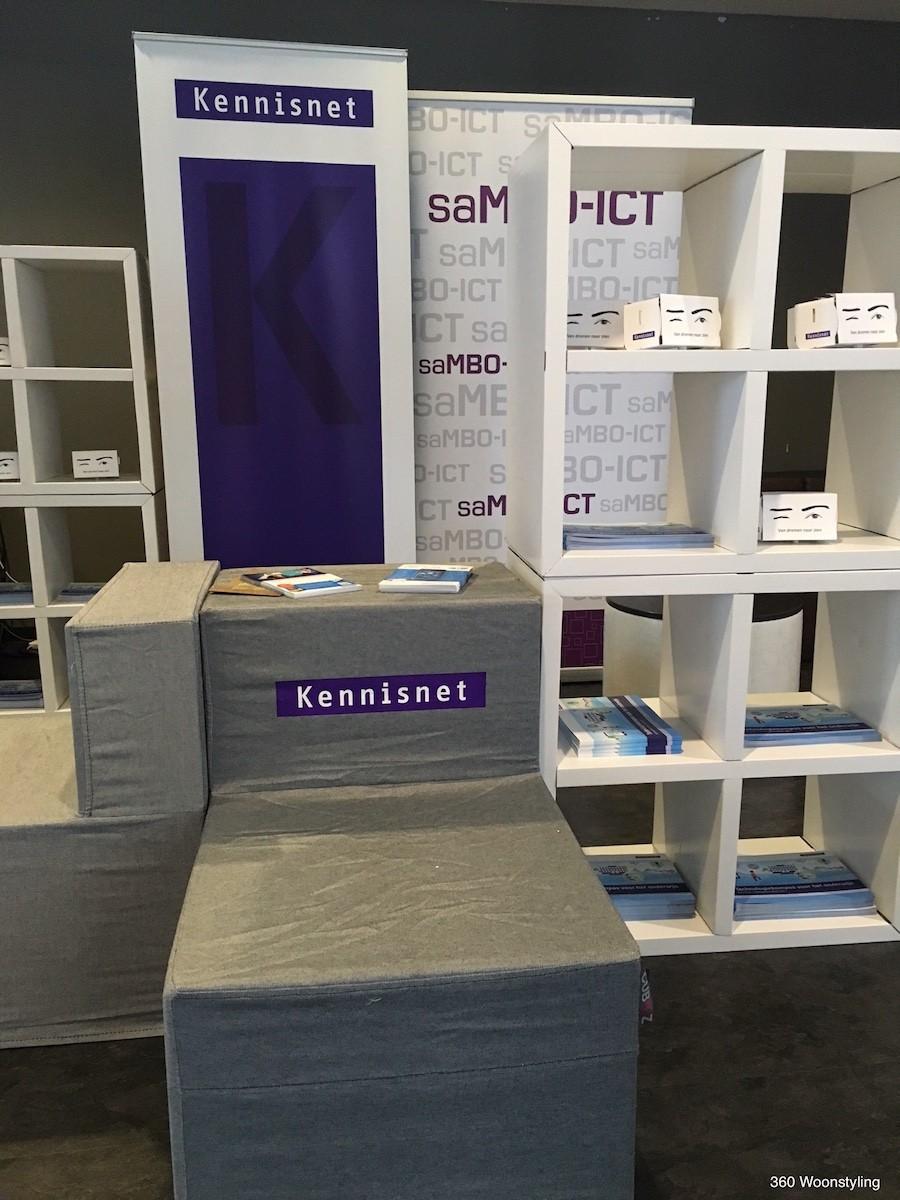 CUBIQZ cardboard furniture for EXPO-KENNISNET