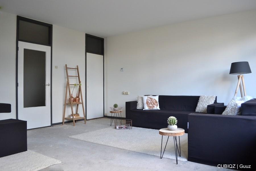 15. Home Staging mit CUBIQZ Pappmöbel; 2-er und 3er Sofa mit Stoffbezug in Farbe GREG