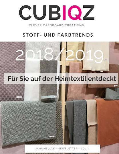 CUBIQZ STOFF UND FARBTRENDS 2018/19 HEINTEXTIL